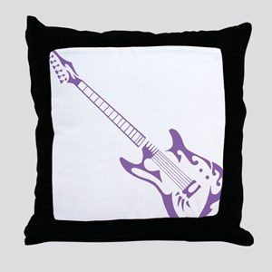 Purple Tribal Guitar Throw Pillow
