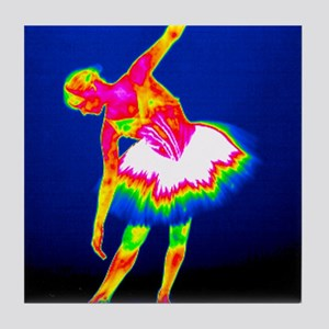 Ballerina, thermogram Tile Coaster