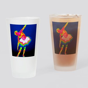 Ballerina, thermogram Drinking Glass