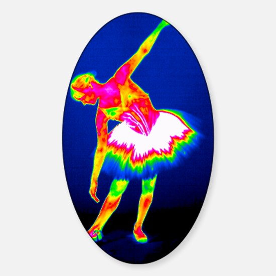 Ballerina, thermogram Sticker (Oval)