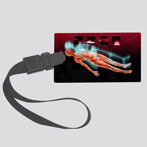 3D hospital scan, conceptual art Large Luggage Tag