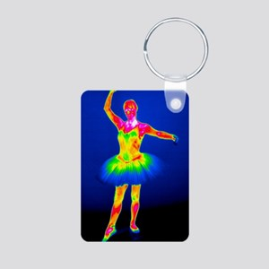 Ballerina, thermogram Aluminum Photo Keychain
