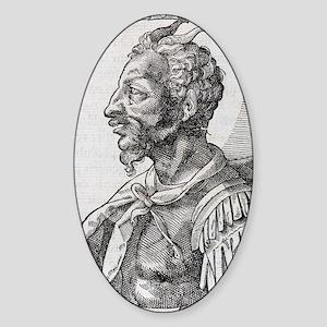 Attila, Emperor of the Huns Sticker (Oval)