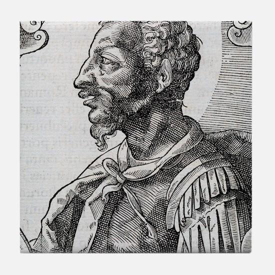 Attila, Emperor of the Huns Tile Coaster