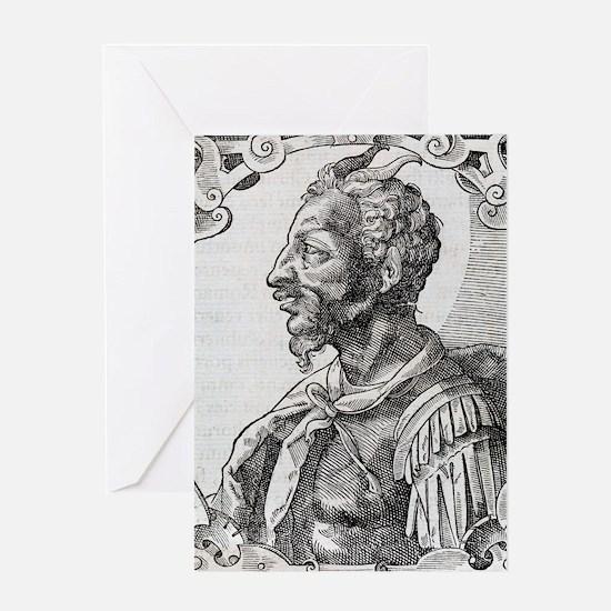Attila, Emperor of the Huns Greeting Card