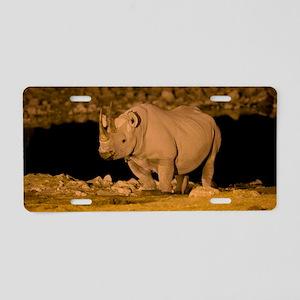 Black rhinoceros Aluminum License Plate
