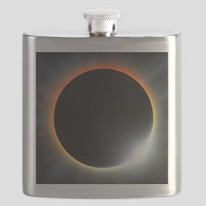 Annular solar eclipse, artwork Flask