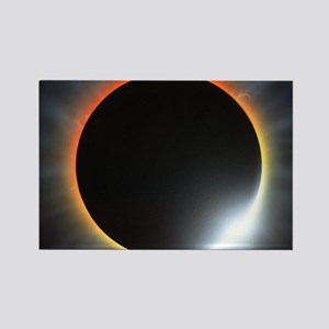 Annular solar eclipse, artwork Rectangle Magnet