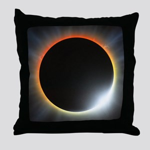 Annular solar eclipse, artwork Throw Pillow