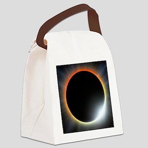 Annular solar eclipse, artwork Canvas Lunch Bag