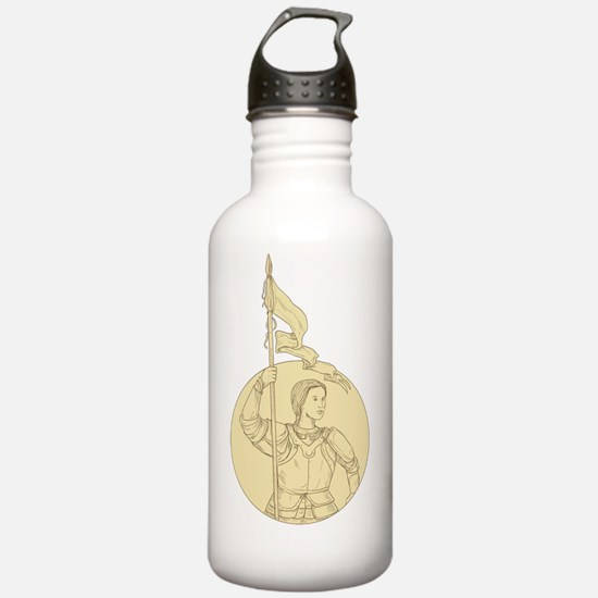 Cool Knights girls Water Bottle