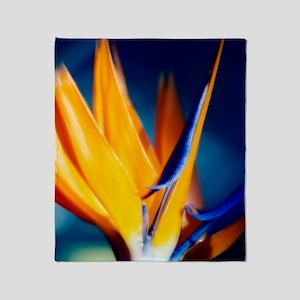 Bird of paradise (Strelitzia reginae Throw Blanket