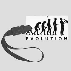 evolution saxophone Large Luggage Tag