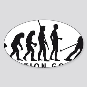 evolution skiing Sticker (Oval)