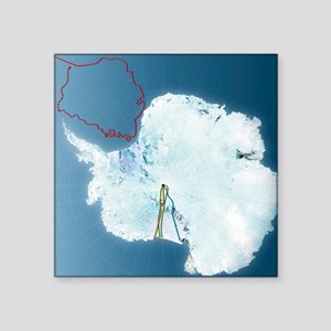 "Antarctic exploration, rout Square Sticker 3"" x 3"""