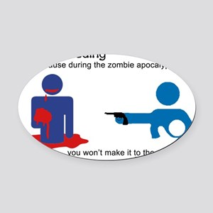 Breastfeeding Zombie Apocalypse Oval Car Magnet
