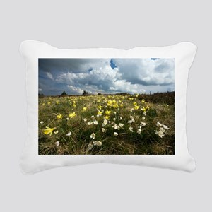 Anemone and Narcissus Rectangular Canvas Pillow
