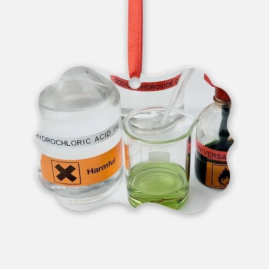 Adding acid to an alkali Ornament