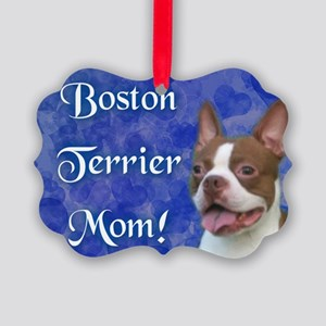 Boston Terrier Mom Picture Ornament