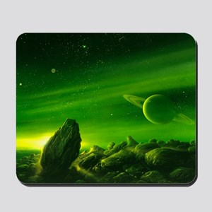 Alien ringed planet, artwork Mousepad
