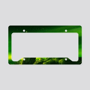 Alien ringed planet, artwork License Plate Holder