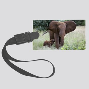 African elephants Large Luggage Tag