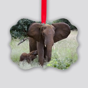 African elephants Picture Ornament