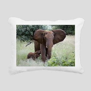African elephants Rectangular Canvas Pillow