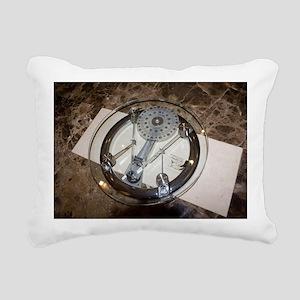 Bathroom scales Rectangular Canvas Pillow