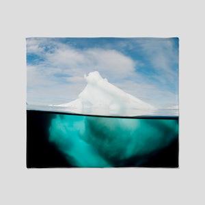 Antarctic iceberg, split view Throw Blanket