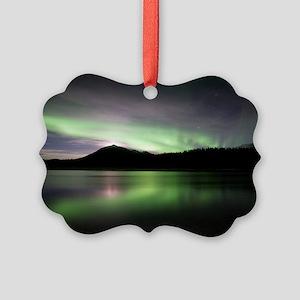 Aurora borealis Picture Ornament