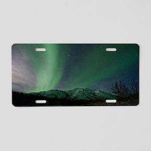 Aurora borealis Aluminum License Plate
