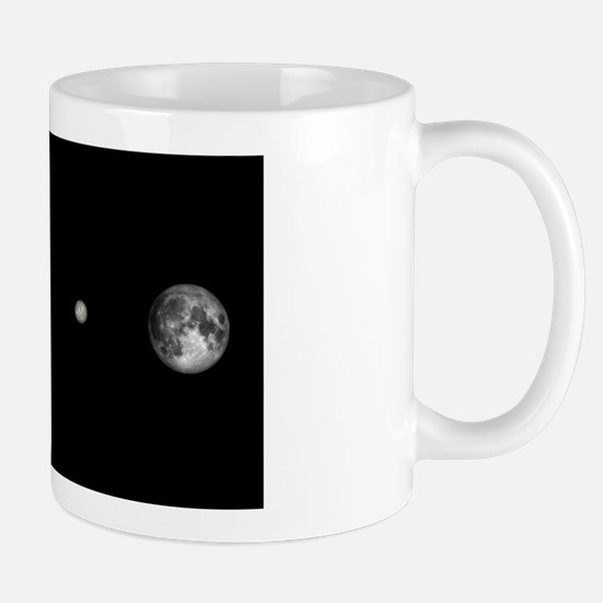 Asteroid Ceres and Earth, artwork Mug