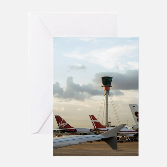 Air traffic control tower, UK Greeting Card