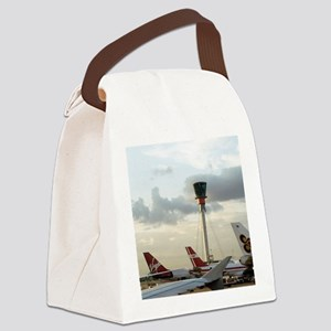 Air traffic control tower, UK Canvas Lunch Bag