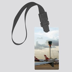 Air traffic control tower, UK Large Luggage Tag