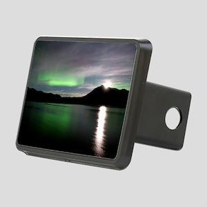 Aurora borealis and Moon Rectangular Hitch Cover