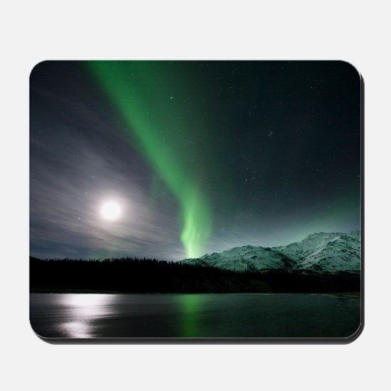 Aurora borealis and Moon Mousepad