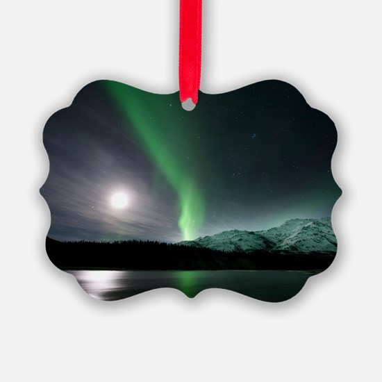 Aurora borealis and Moon Ornament