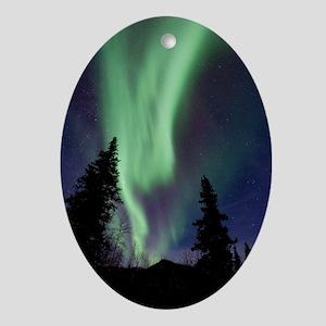 Aurora borealis Oval Ornament