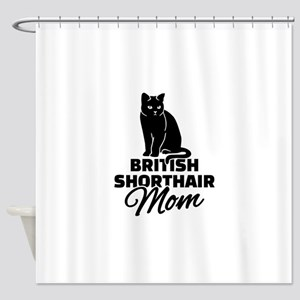 BRITISH SHORTHAIR Stickers Clothing Shower Curtain