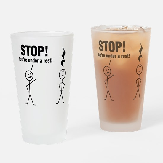 Stop! Drinking Glass