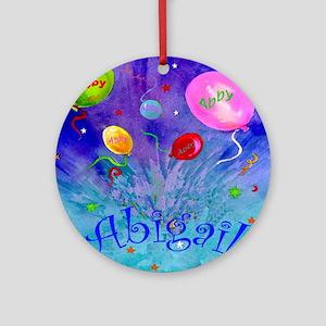 Abby Round Ornament