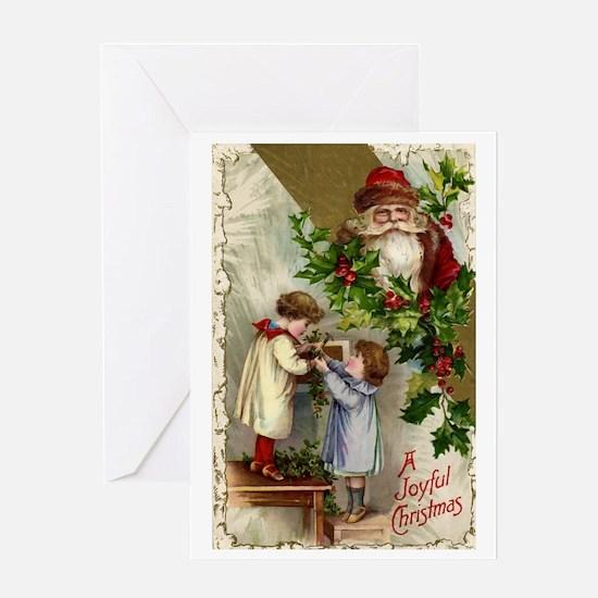 Vintage Christmas Santa Claus Greeting Card