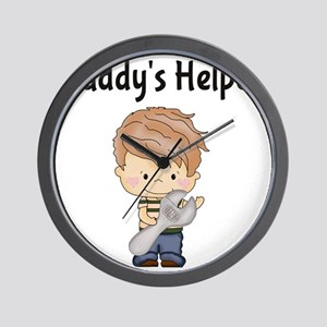 Daddys Helper with Wrench Wall Clock