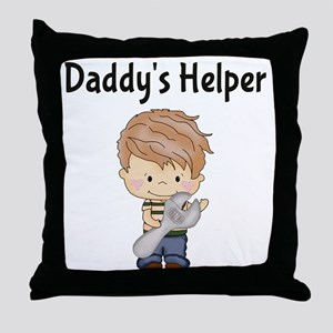 Daddys Helper with Wrench Throw Pillow