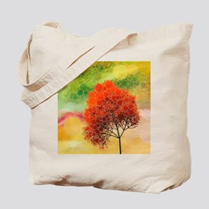 crazy tree red Tote Bag