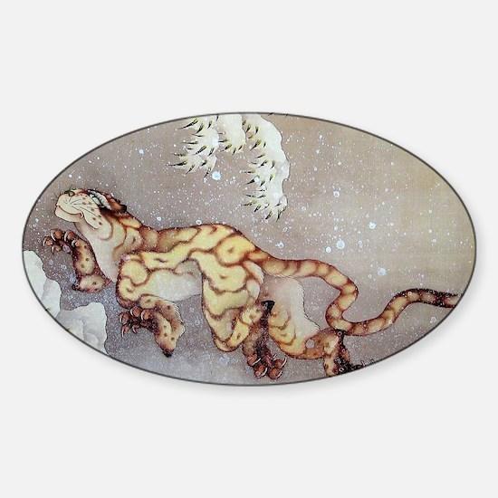 Hokusai Sticker (Oval)