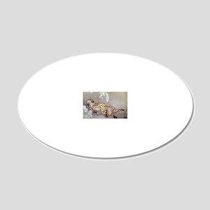Hokusai 20x12 Oval Wall Decal