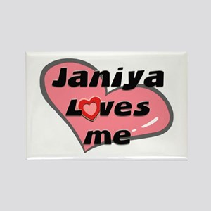 janiya loves me Rectangle Magnet